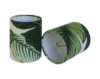Custom Chandelier Shades - Sconce Clip-On Shades - Lampshade - Swaying Palms by Tommy Bahama in Aloe - Tropical Sconce Shades - Green Shades