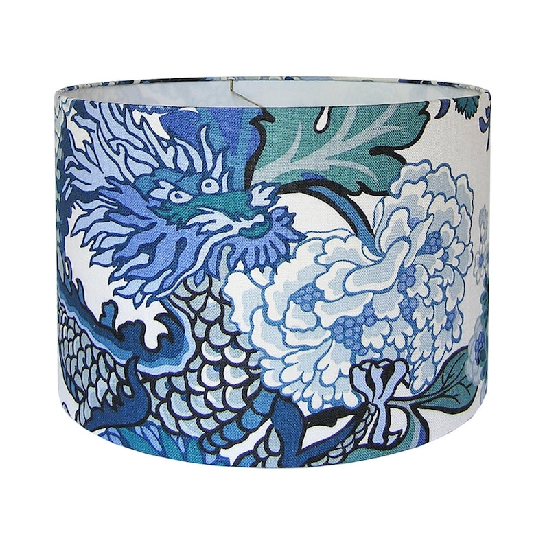 China Blue Designer Lamp Shade image 0