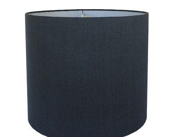 Custom Lamp Shade - Navy Lampshade - Navy Blue Lamp Shade - Linen Lampshade - Made to Order