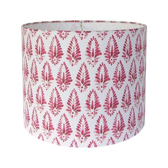 Patterned Lamp Shade Print Lamp Shades Red Lamp Shade Pair Etsy Inspiration Patterned Lamp Shades