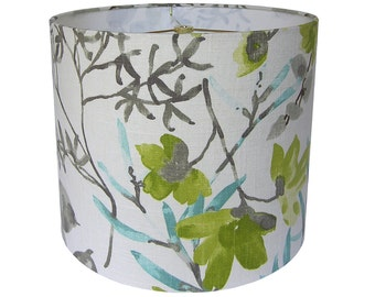 Lamp Shade Lampshade Gazebo by Braemore Cloud Aqua Citrine Green Gray Made to Order