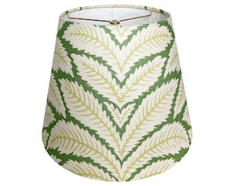Green Tropical Leaf Print Lamp Shade - Custom Made to Order
