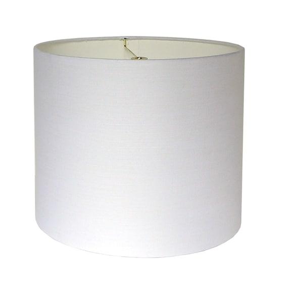 White Linen Lamp Shade Custom Lampshade Table Lamp Shade Etsy