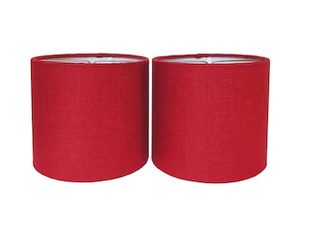 Chandelier Shade Sconce Clip-On Lamp Shade Lampshade Red Linen Made to Order