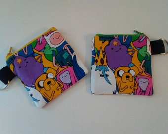 4 coin purse Adventure Time characters