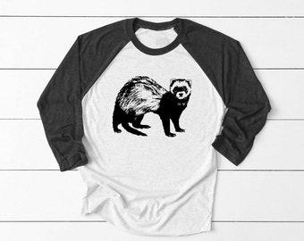 91eeed6ca Ferret Graphic Unisex Shirt, ferret shirt, gift, Mens T Shirt, Ladies shirt,