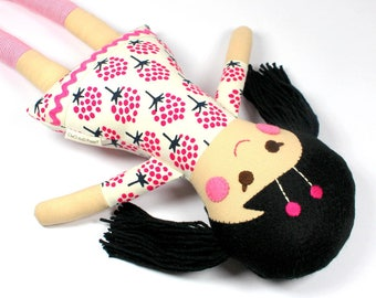 fabric rag doll   camille doll for girl    Asian doll   handmade doll    soft toy    ethnic doll