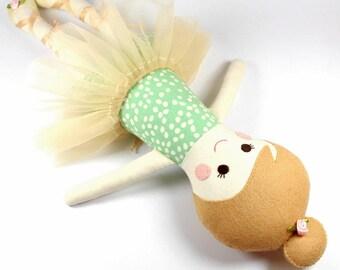 ballerina rag doll   camille doll for girl   girl rag doll   ballerina doll    cloth doll