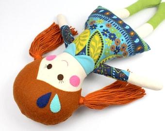 handmade rag doll   camille cloth doll   first doll   keepsake rag doll   girl doll