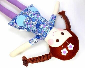 fabric rag doll | camille doll for girl |  handmade doll |  soft toy  | cloth doll | kepsake rag doll