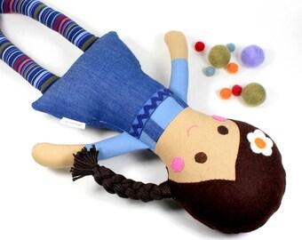 keepsake rag doll   camille cloth doll   first doll   handmade rag doll   girl doll