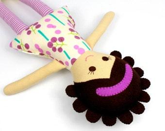 ethnic rag doll for girl   handmade rag doll   camille cloth doll   first doll   keepsake rag doll   camille doll