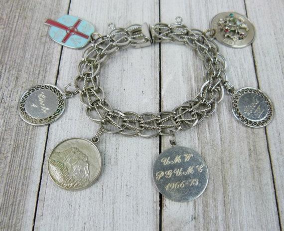 Vintage Sterling Silver Charm Bracelet - Methodist
