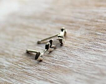 Sterling Silver Arrow Post Earrings, Arrow Earrings, Silver Arrows