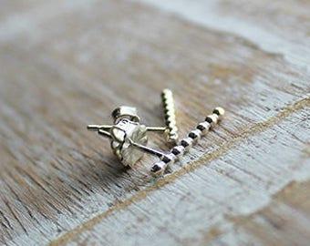 Sterling Silver Beaded Stud Earrings