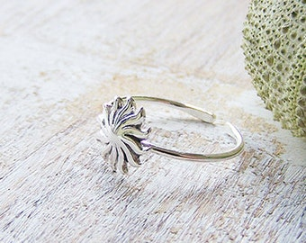 Sunburst Toe Ring, Boho Toe Ring, Silver Toe Ring, Adjustable Toe Ring