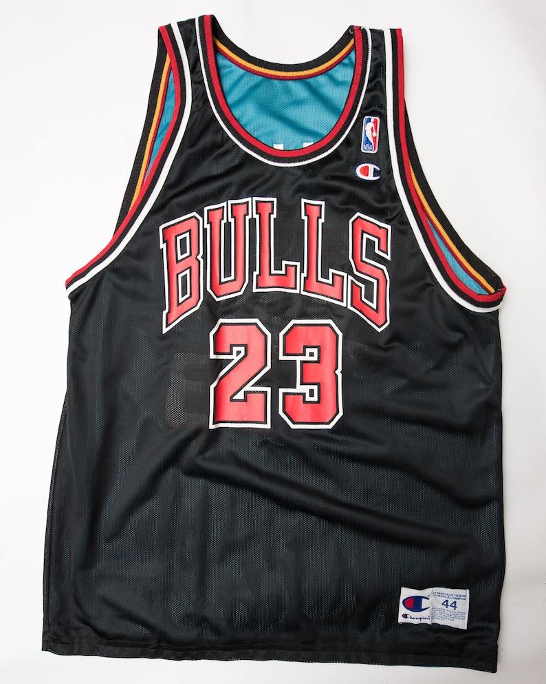 65b56d190 RARE Vtg NBA Reversible Champion Jersey 44 Michael Jordan