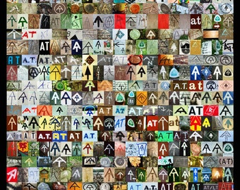 The AT Poster // Appalachian Trail Symbol Collage Poster