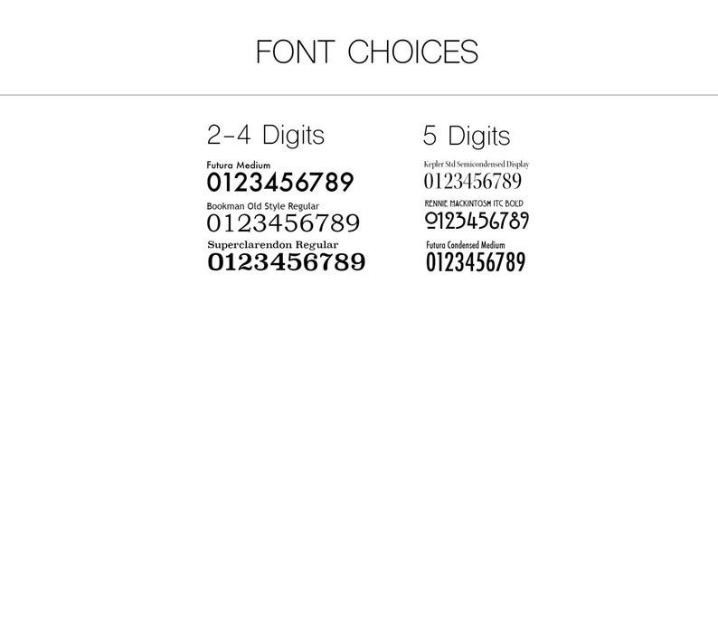 Craftsman House Numbers Sign Address Plaque Sleek 4