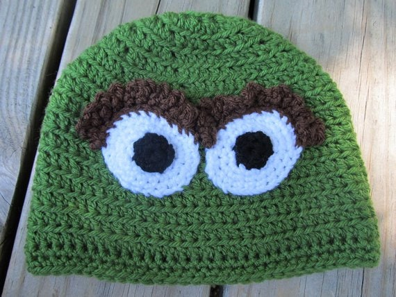 89827ec24a1 Unofficial Inspired by Oscar the Grouch Hat