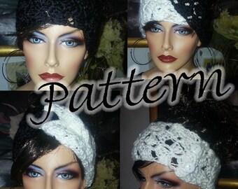 4 in 1 Headband Earwarmer Headwrap Turban Crochet PDF Pattern