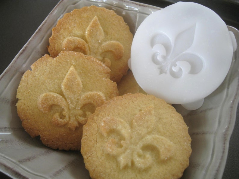 FLEUR De Lis COOKIE STAMP Recipe And Instructions Make Your