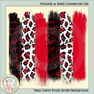 PNG Team Colors 3 Brush Strokes Background Clipart Sublimation Digital Design  Personal and Small Commercial Use Transfer