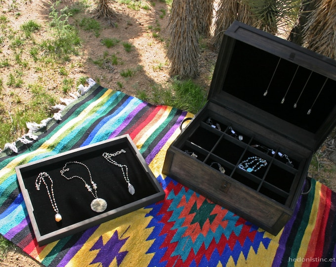 Steamer Trunk Jewelry Display Case // Handmade Traveling Salesman Trunk Show Display