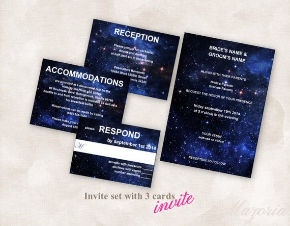 DIY Wedding Invite set TEMPLATE Doctor Who Tardis blue sky | Etsy