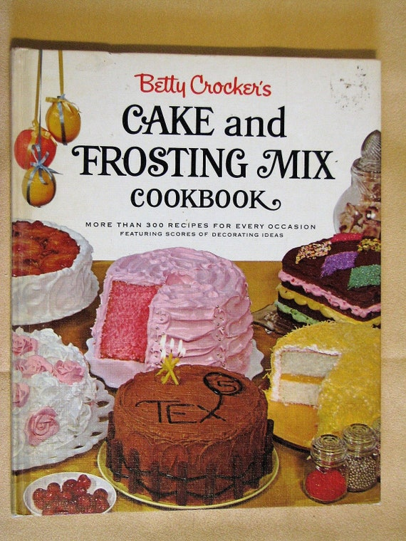 Terrific Vintage Betty Crockers Cake And Frosting Mix Etsy Funny Birthday Cards Online Barepcheapnameinfo