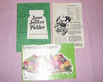 3 Tree Fruit Recipe Booklets