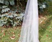 Custom Cathedral Mantilla Veil Cut Edge Illusion Crystals