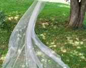 Crystal veil Royal Cathedral Mantilla Veil with 3x crystals along edge Made to Order