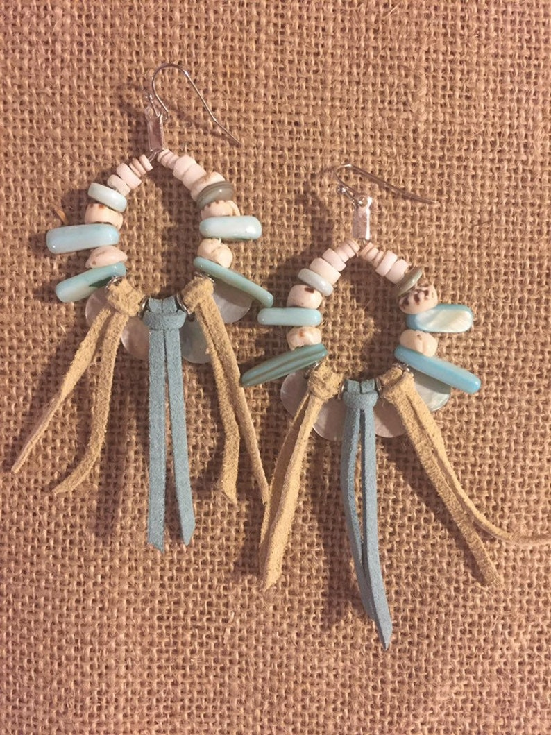 Beachy Boho Fringe Earrings