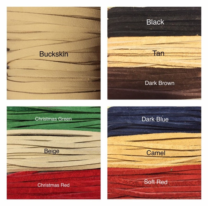 Sueded Leather Feather Choker suede available in 14 colors