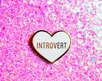Introvert Hard Enamel Lapel Pin
