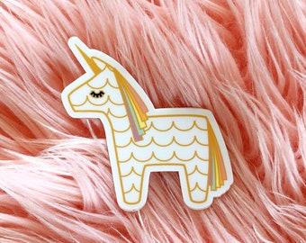 Unicorn Piñata Rainbow Sticker