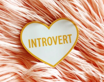 Introvert Heart Sticker