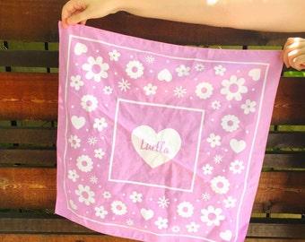 Luella Pink Floral Bandana
