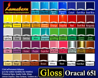 """10 sheet 12""""x12"""" outdoor  Oracal 651 Gloss adhesive backed vinyl professional sign/craft Outdoor Quality - use with stamp/die cut, Cutters"""