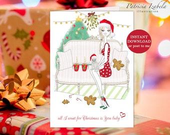 pdf christmas cards etsy