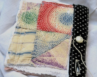 little textile notebook