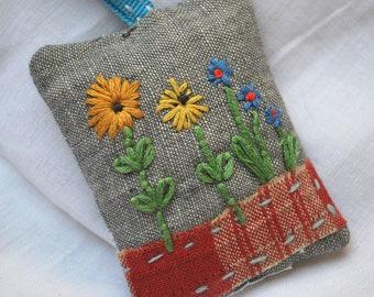 Little sunflowers lavender bag