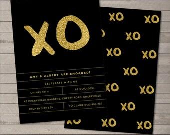 Printable Party Invitation PDF - XO