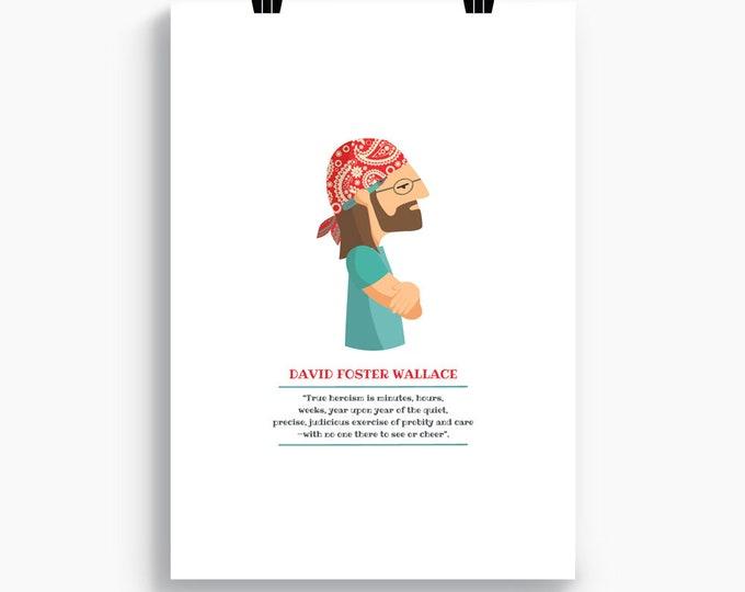 """Ilustración """"David Foster Wallace""""."""