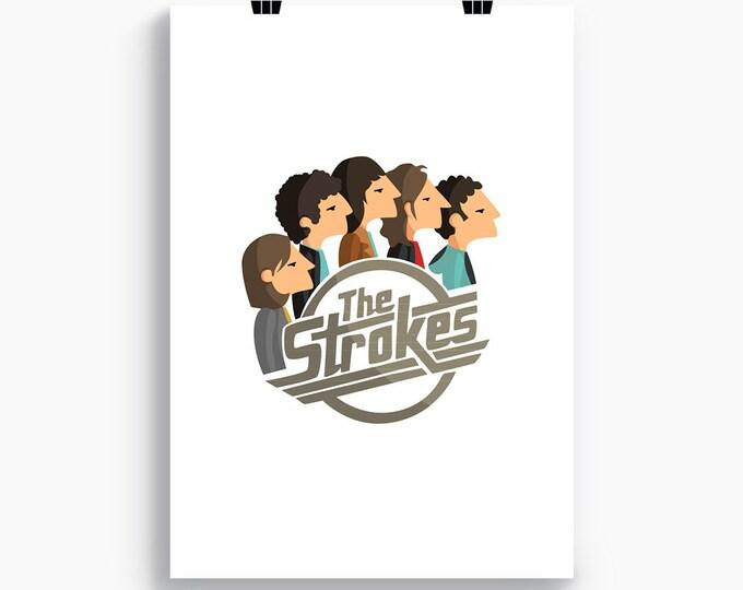 """Ilustración """"The Strokes""""."""