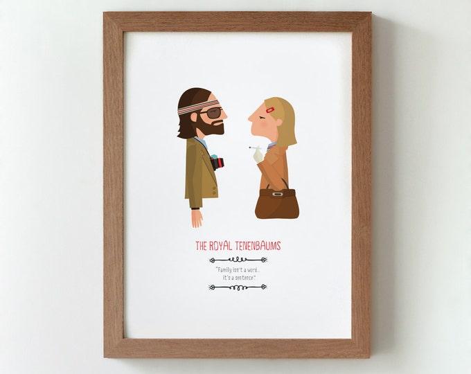 """Ilustración """"Los Tenenbaums"""". Basada en la película de Wes Anderson."""
