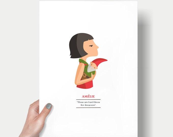 """Ilustración """"Amélie"""". Basada en la película de Jean-Pierre Jeunet."""