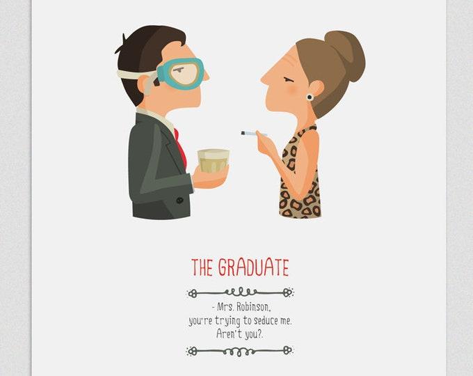 """Ilustración """"El Graduado"""". Basada en la película de Mike Nichols."""