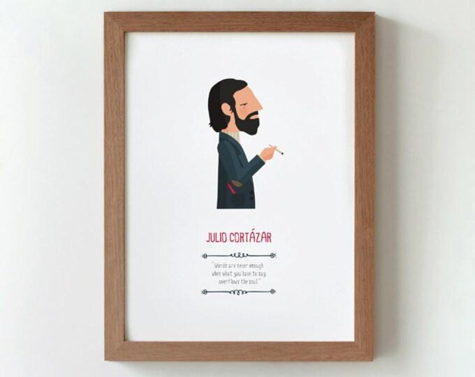"""Ilustración """"Julio Cortázar""""."""